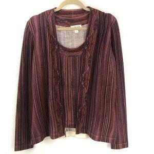 St John Sport 2 Pc Sweater Set Petite Purple Wool